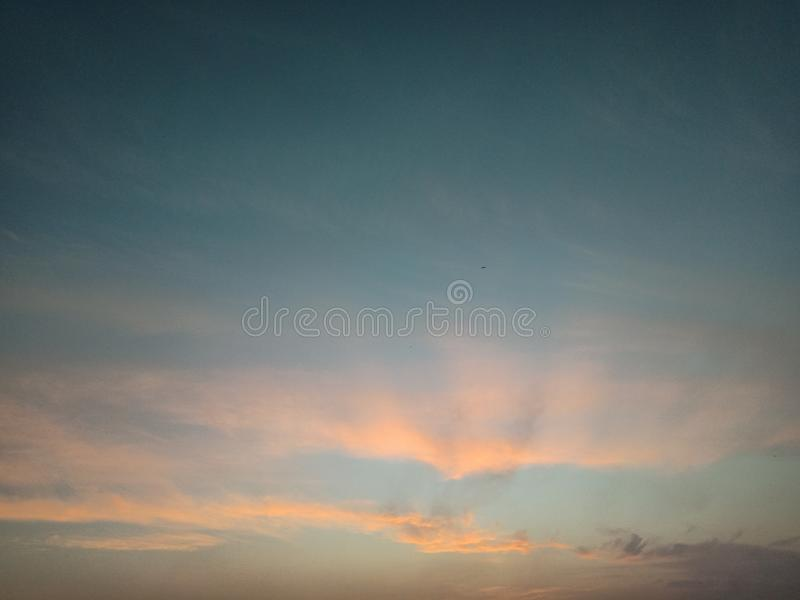 Cloud in the sky beautiful red and orange stock photos