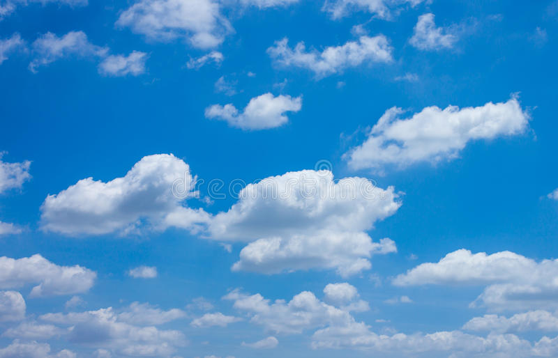 Cloud and Sky. Beautiful White Cloud and Blue Sky stock photo