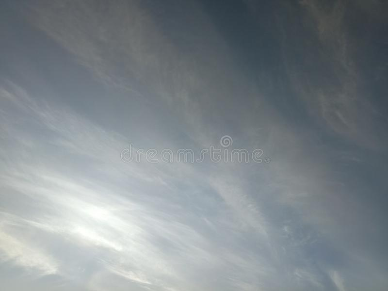 Cloud in the sky beautiful white grey royalty free stock photo