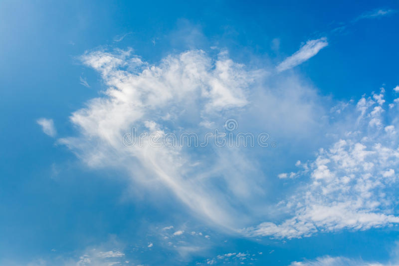 Cloud and sky. Cloud and blue sky for background stock images