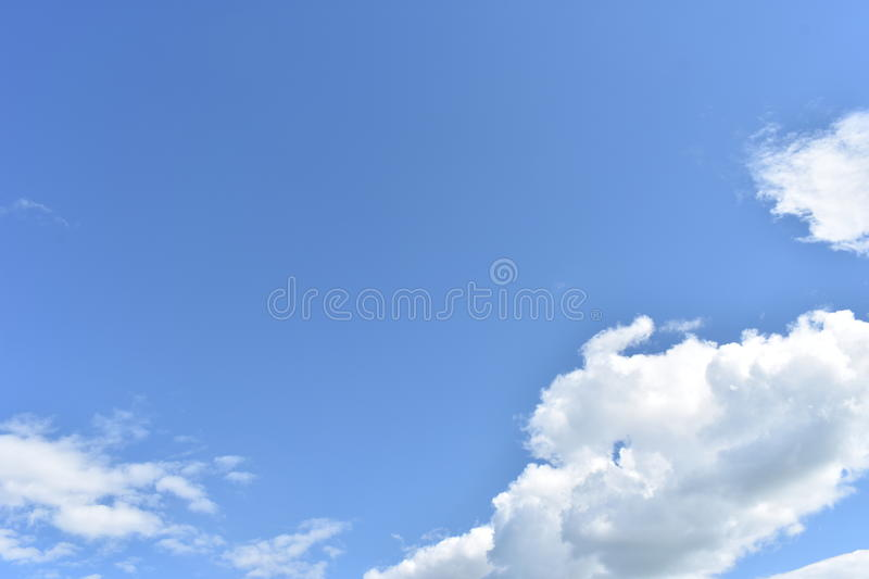 Cloud sky blue flies high afar weather clear royalty free stock images