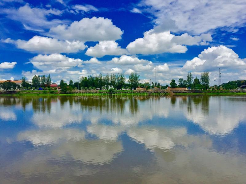 Cloud in the sky. With water reflextion royalty free stock images