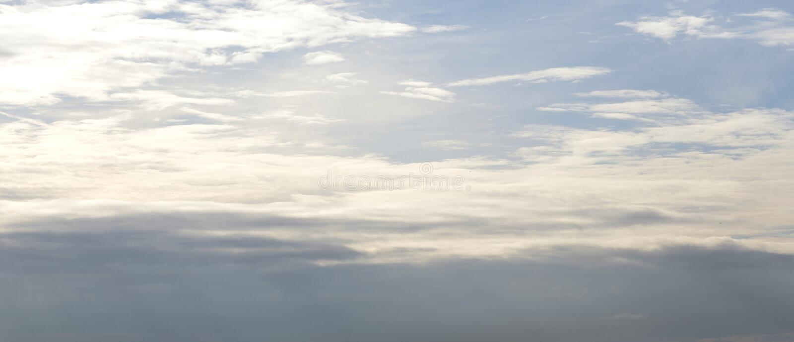 Cloud sky at evening. Cloud sky at evening, may be used as background royalty free stock image
