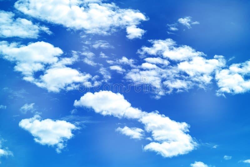 Cloud in sky. Fluff of cloud on blue sky stock photo