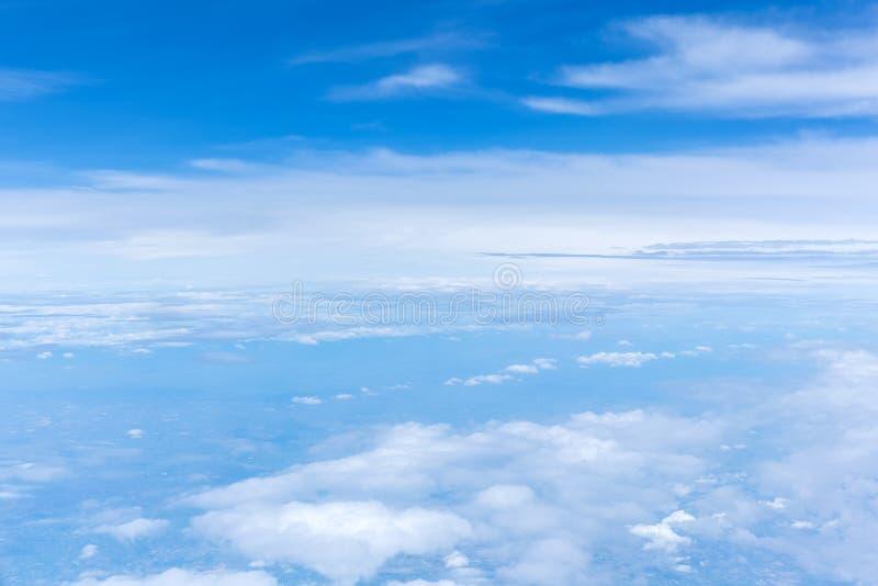 Cloud in sky. Fluff of cloud in blue sky stock photos