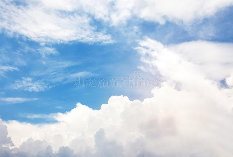 Cloud in sky. Fluffy of cloud in blue sky royalty free stock photo