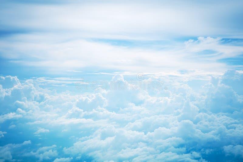 Cloud in sky. Fluffy of cloud in blue sky, bird eye view royalty free stock photo