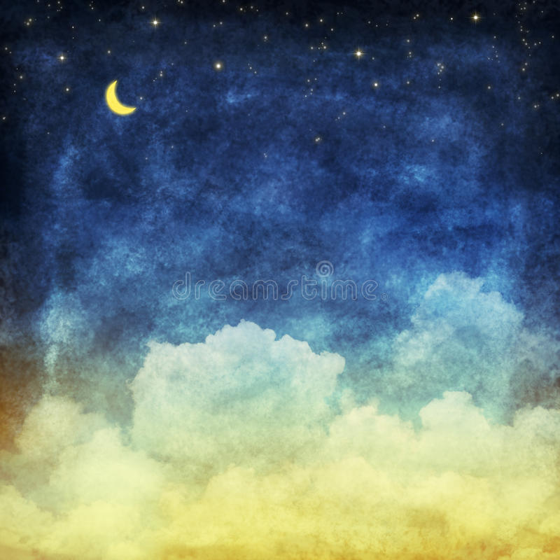 Cloud and sky at night royalty free illustration