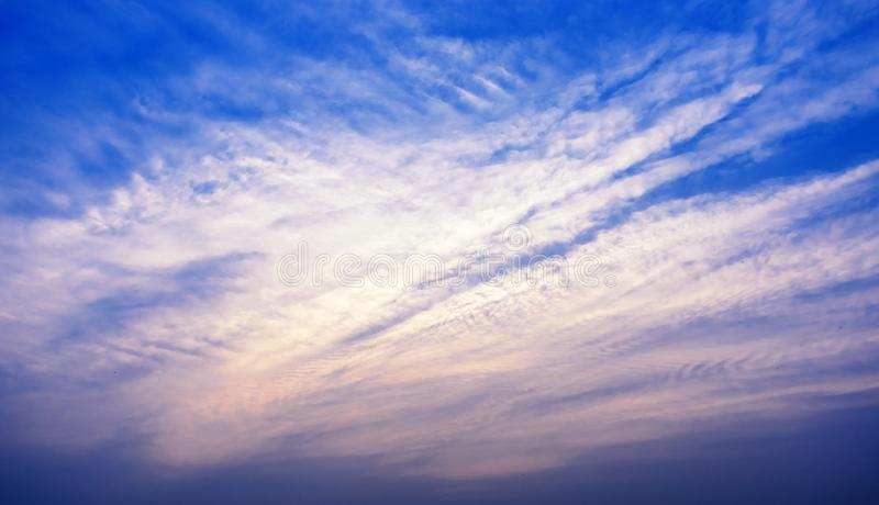 Cloud and Sky play with sunlight. Landscape photography royalty free stock images