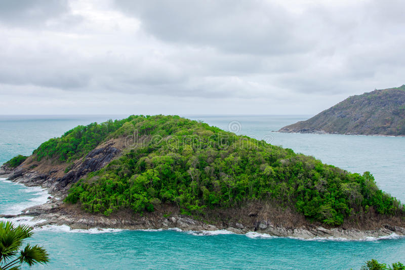 Cloud, sky and sea of Promthep cape. Southest point of Phuket island stock images