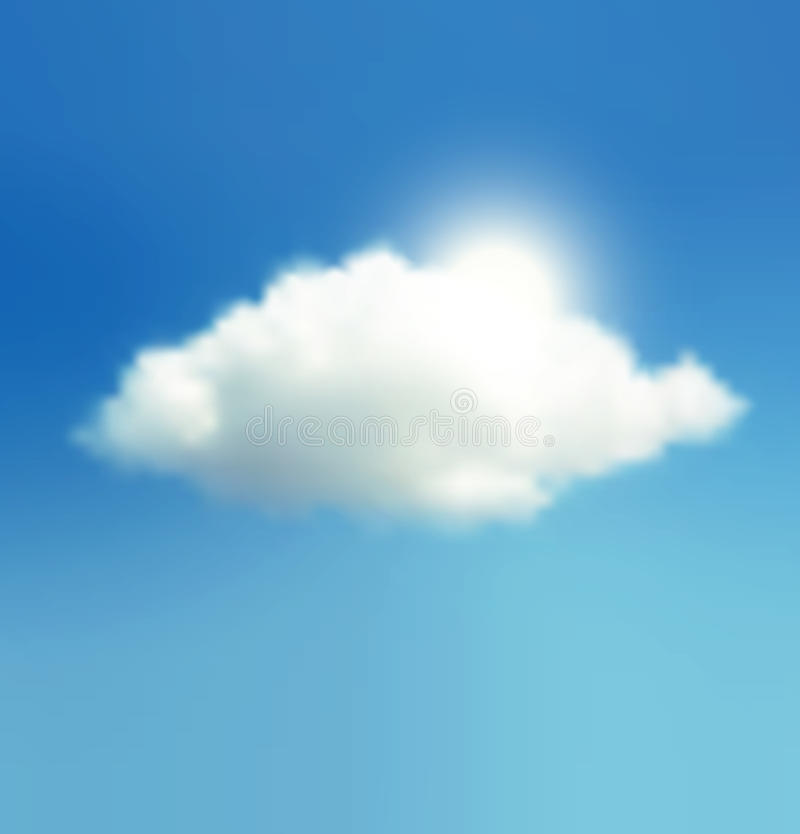 Cloud, Sky And Sun royalty free illustration