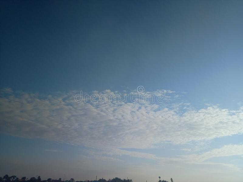 Cloud in the sky and the sun in the river. Beautiful royalty free stock photography