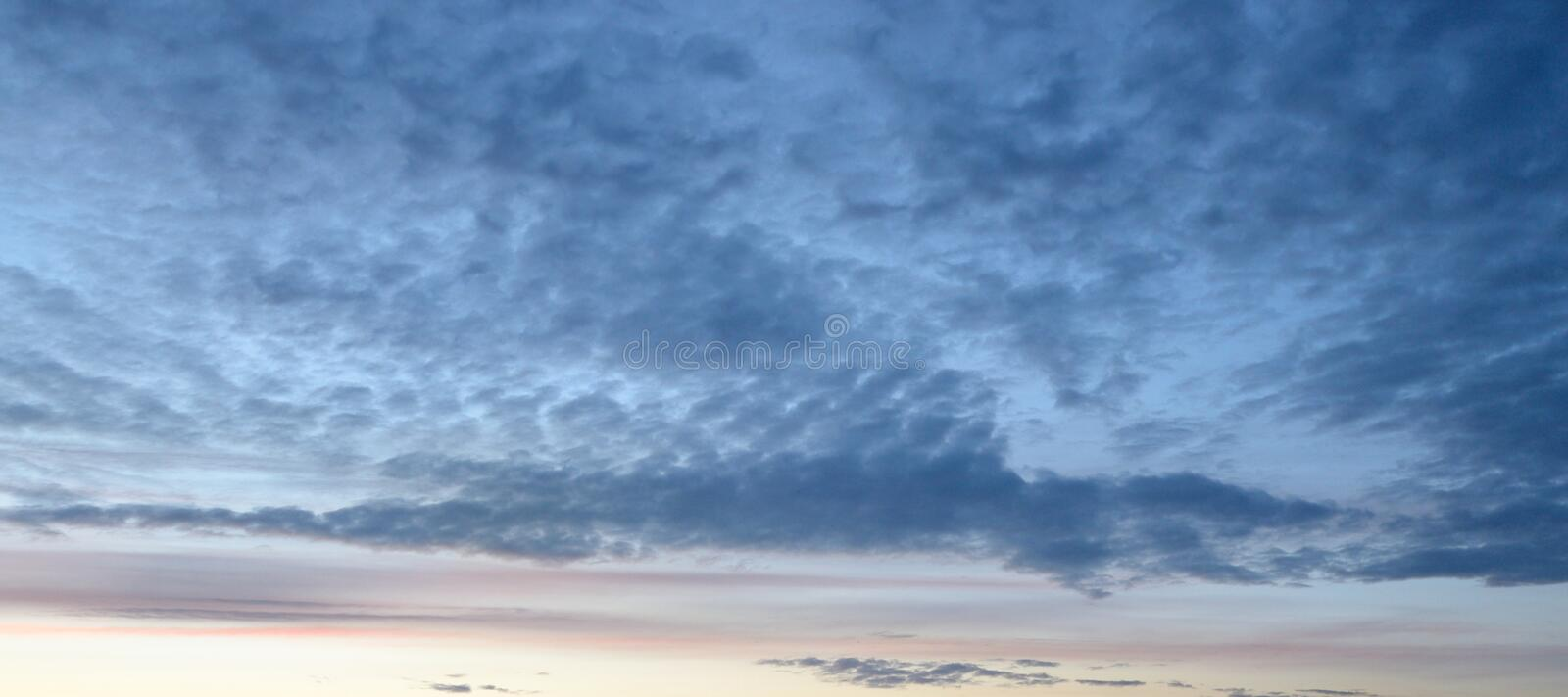 Cloud sky at sunset. Cloud sky at sunset, may be used as background royalty free stock photography