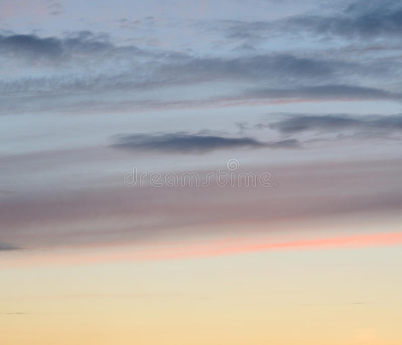 Cloud sky at sunset. Cloud sky at sunset, may be used as background royalty free stock photo