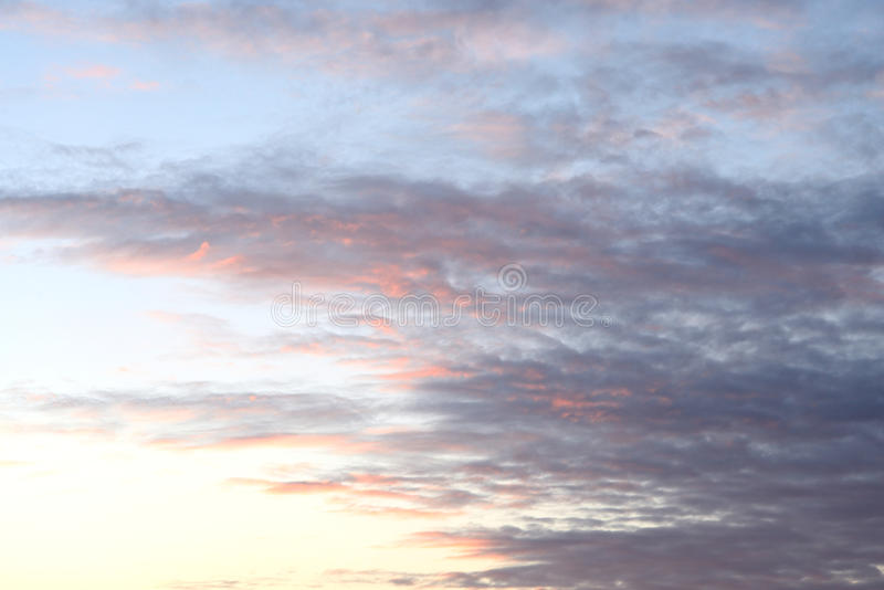 Cloud sky at sunset. Cloud sky at sunset, may be used as background stock photography
