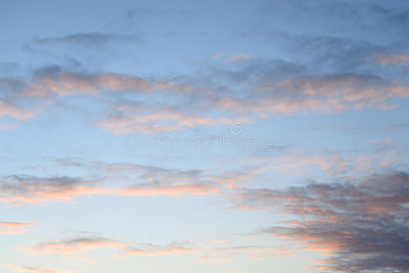 Cloud sky at sunset. Cloud sky at sunset, may be used as background royalty free stock photos