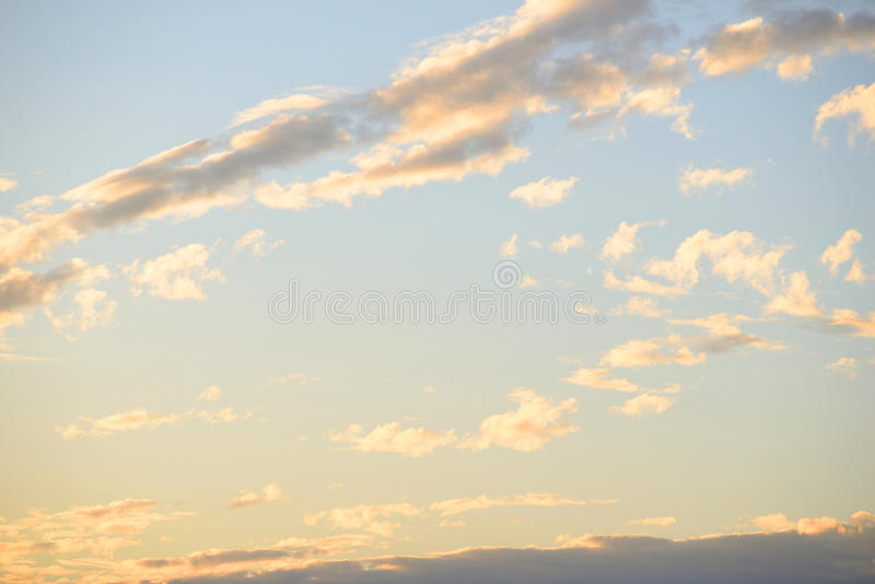 Cloud sky at sunset. Cloud sky at sunset, may be used as background stock photos