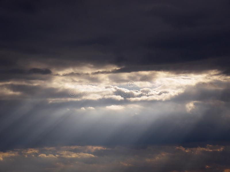 Cloud and sky. With sunshine stock image