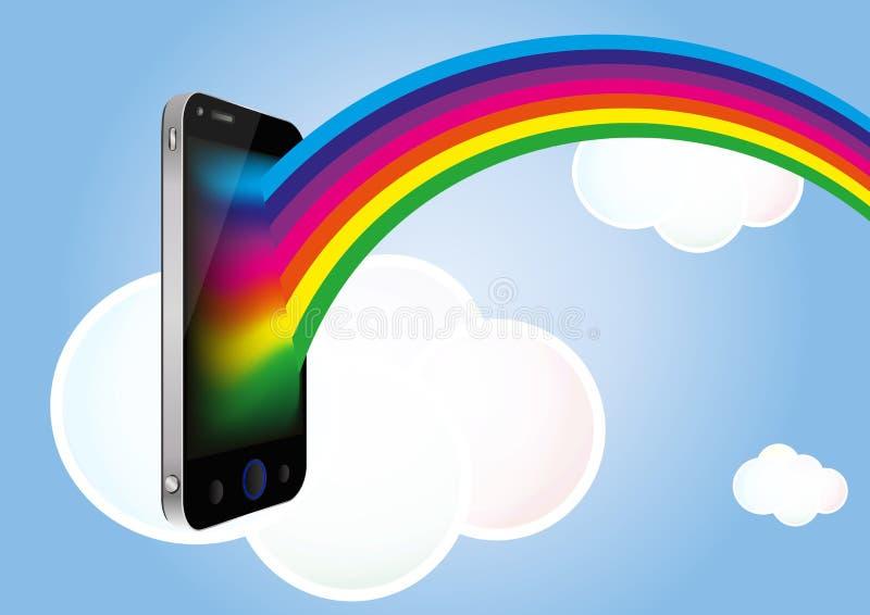 Cloud Smartphone Royalty Free Stock Photos