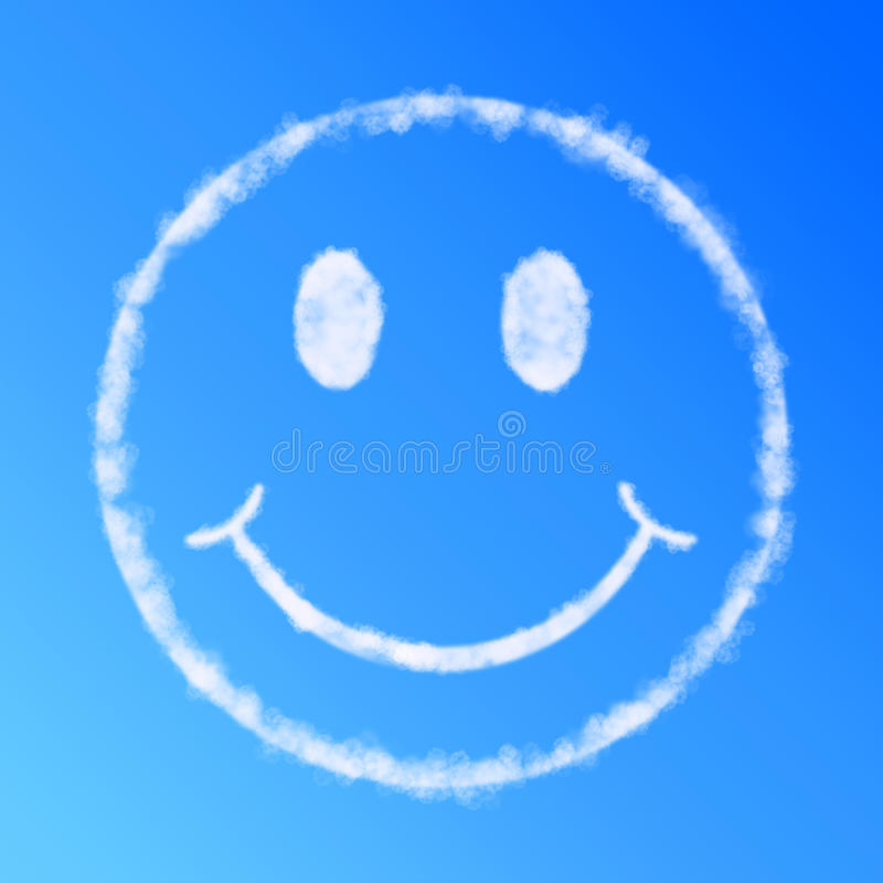 Cloud smile face royalty free illustration
