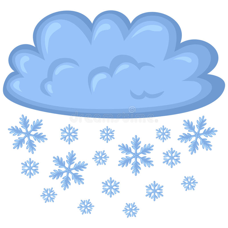 cloud of snow stock vector illustration of fall illustration rh dreamstime com snow white cartoon pictures snow angel pictures cartoon