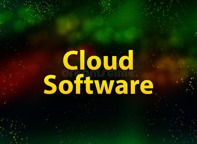 Cloud Software abstract bokeh dark background stock illustration
