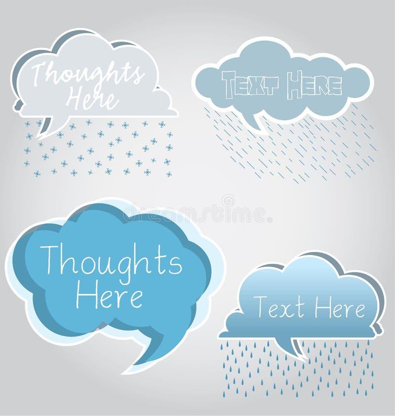 Download Cloud Speech Bubbles stock vector. Image of ideas, clouds - 24756275