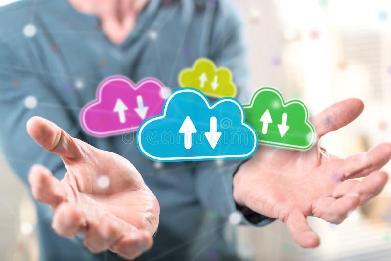 Concept of cloud storage stock photos