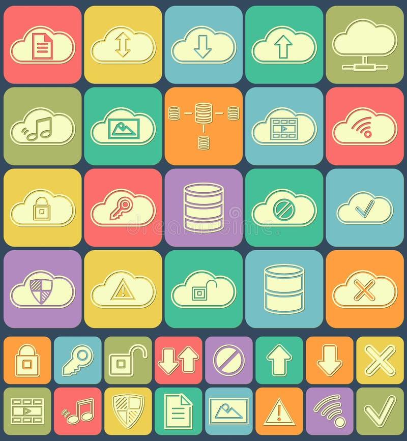 Cloud Storage, Data analysis, database, network stock illustration