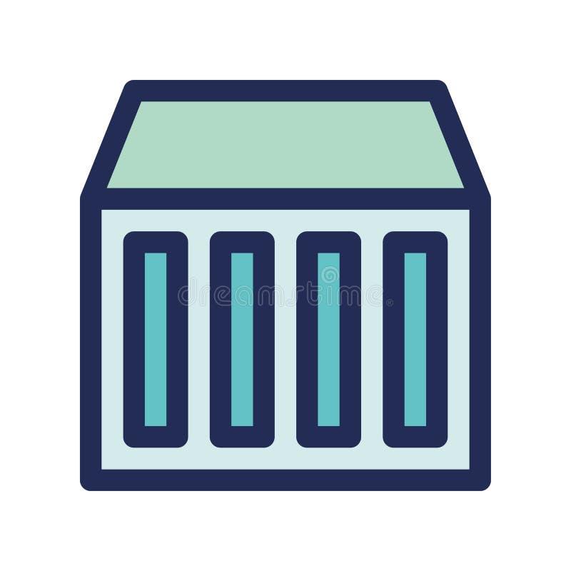 Cloud storage hardware server icon or logo illustrator stock illustration