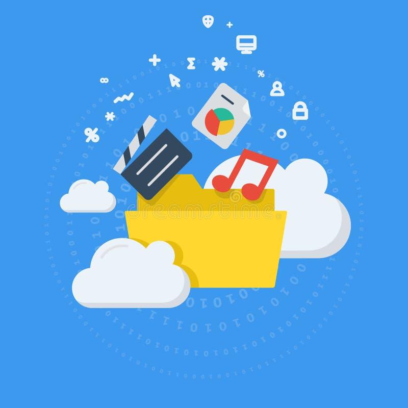 Cloud storage place concept stock illustration