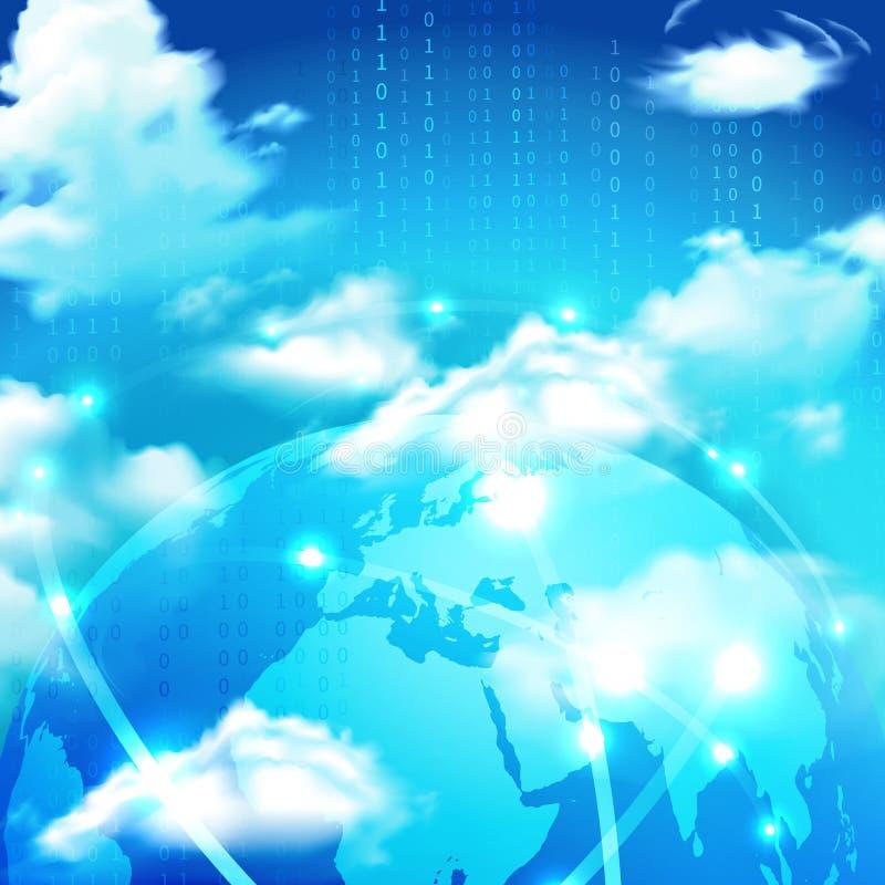 Cloud Storage Realistic Symbol royalty free illustration