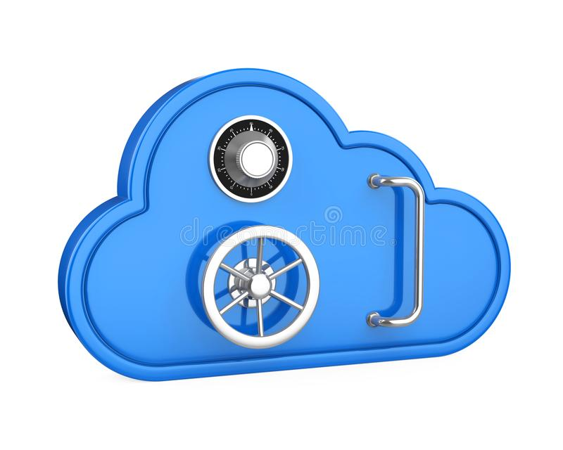 Cloud Storage Safe Isolated. On white background. 3D render vector illustration