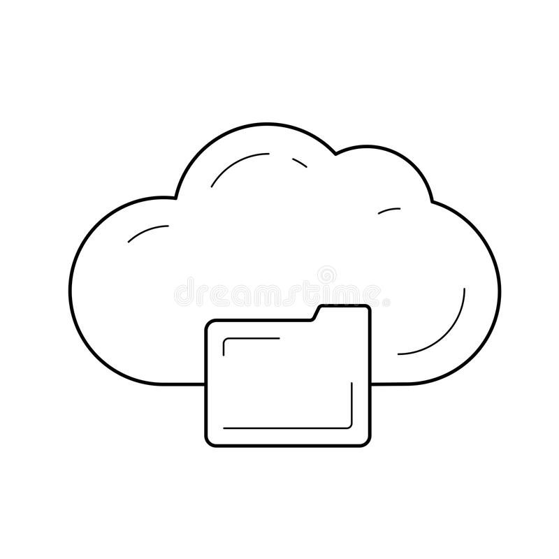 Cloud storage line icon. vector illustration