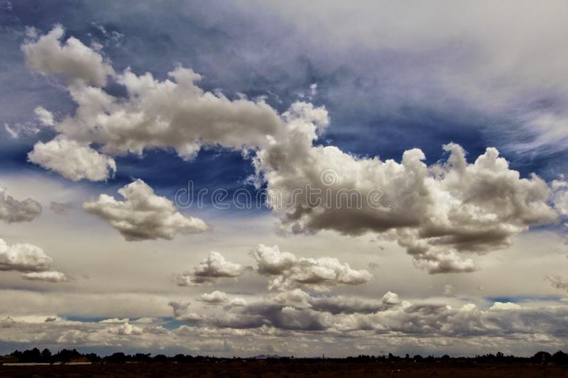 Cloud storm high desert. Clouds buidling over the high desert in Palmdale stock photo