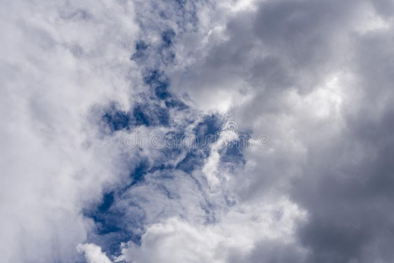 Cloud before the storm the sky. Thick fluffy clouds.  stock photos