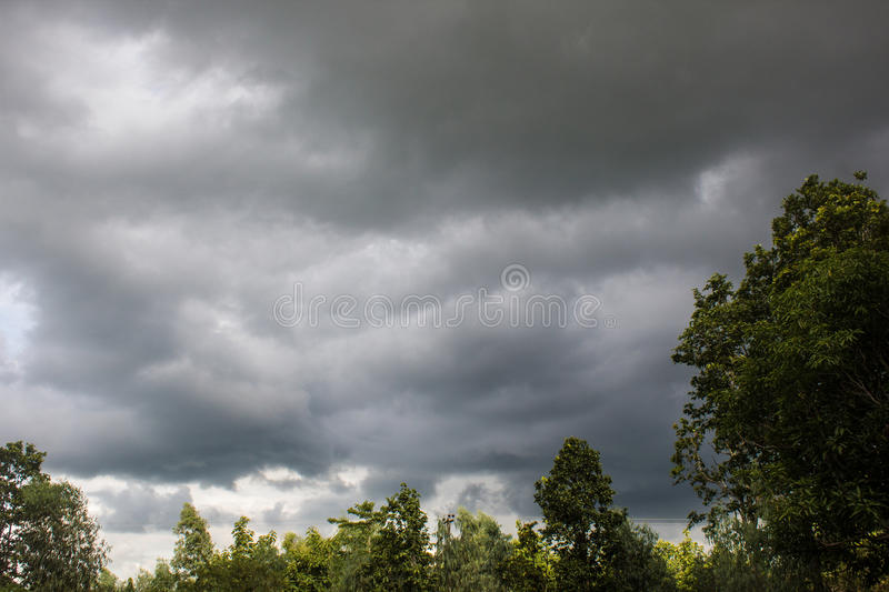 Cloud of strom stock image