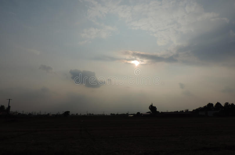 Cloud with Sun royalty free stock photo