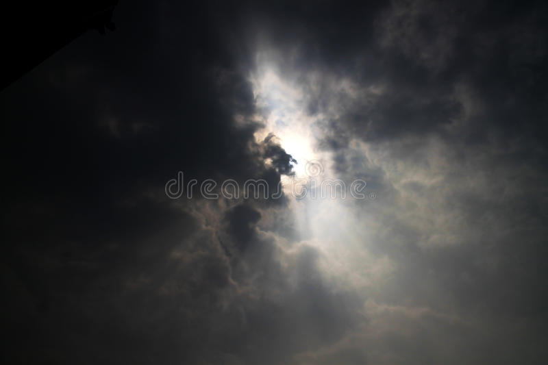 Cloud with Sun stock images
