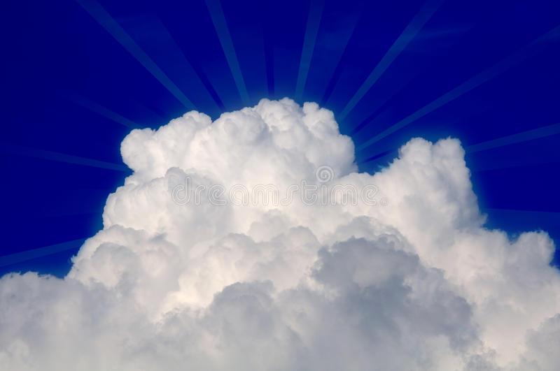 Download Cloud With Sun Rays In Blue Sky Stock Image - Image: 25506035