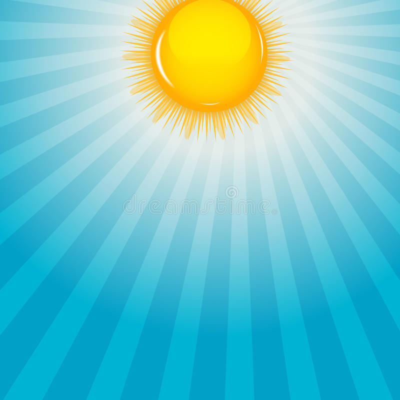 Cloud and sunny background vector illustration royalty free illustration