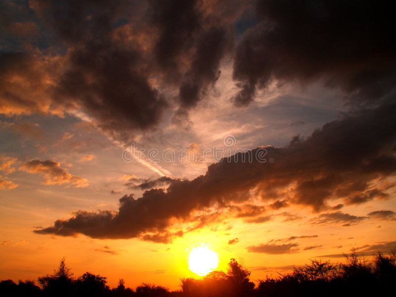 Download Cloud  sunset 2 stock image. Image of tropical, outdoor - 4349359