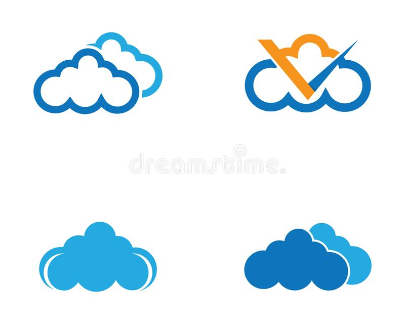 Cloud symbol illustration royalty free illustration