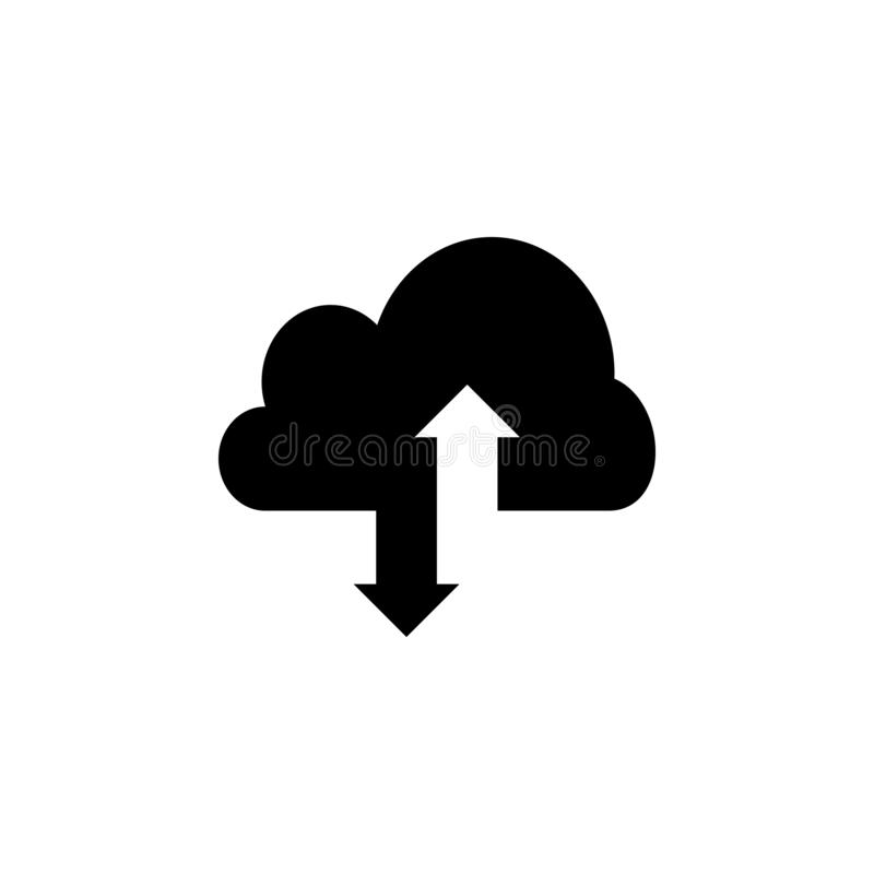 Cloud sync refresh icon. Simple glyph, flat vector of Technology icons for UI and UX, website or mobile application. On white background royalty free illustration