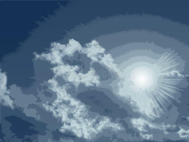 cloud szczegółowy wysoki wektora ilustracji