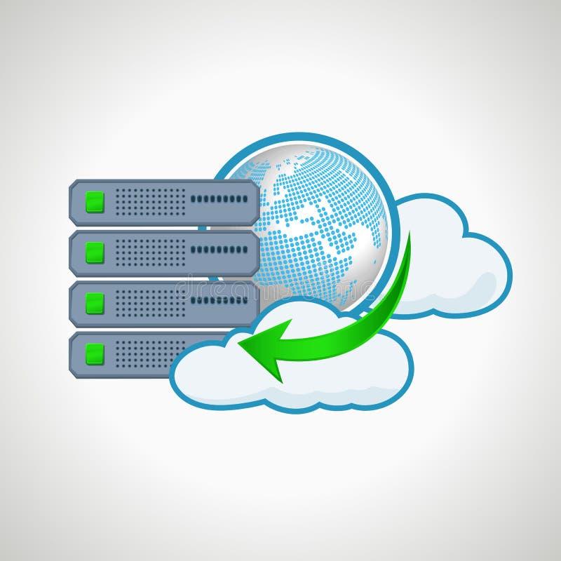 Cloud technologies. Computer icon server. design. Element royalty free illustration