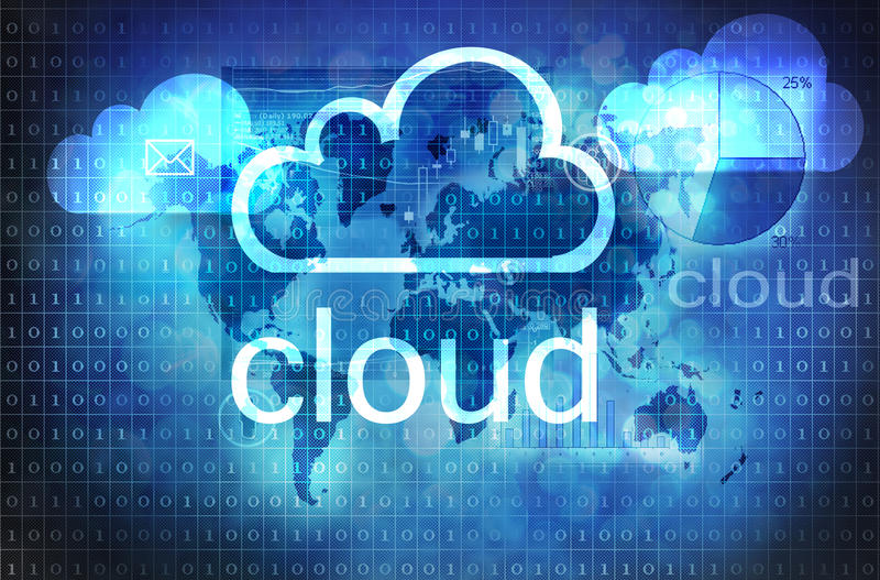 Cloud technology vector illustration