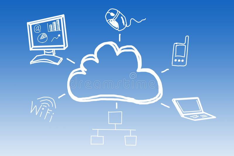 Cloud technology vector illustration