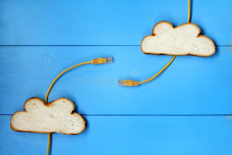 Cloud technology concept stock image