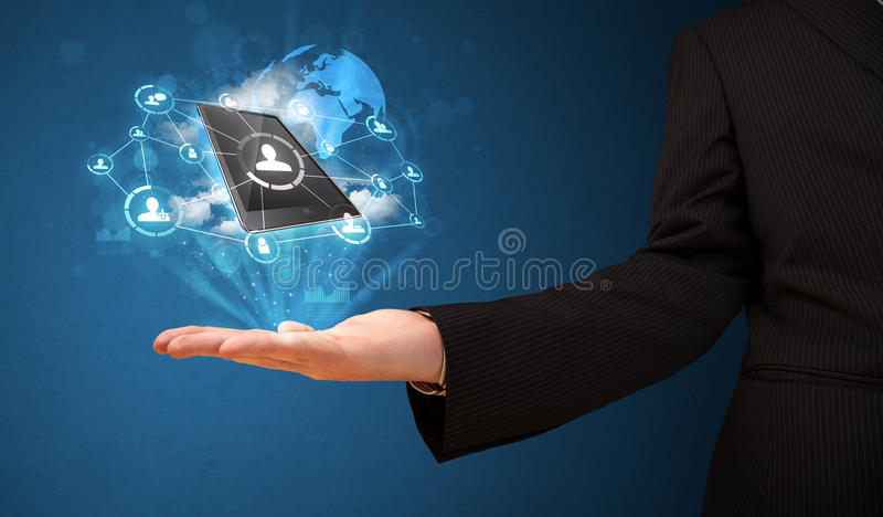 Download Cloud Technology In The Hand Of A Businessman Stock Photo - Image: 33303614